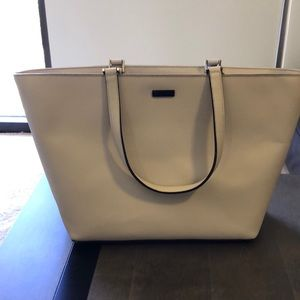 Authentic Kate Spade leather shopping tote